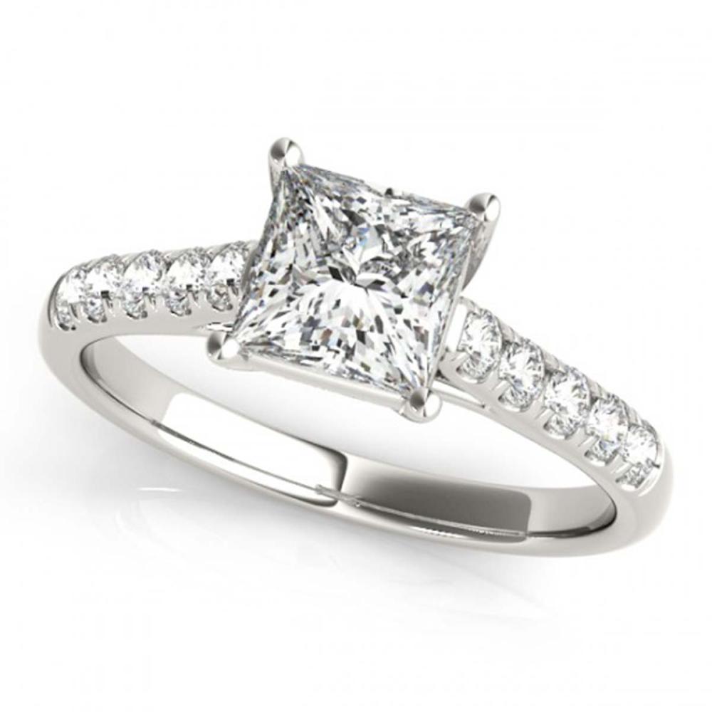 0.85 ctw VS/SI Princess Diamond Ring 18K White Gold - REF-99W5H - SKU:28113