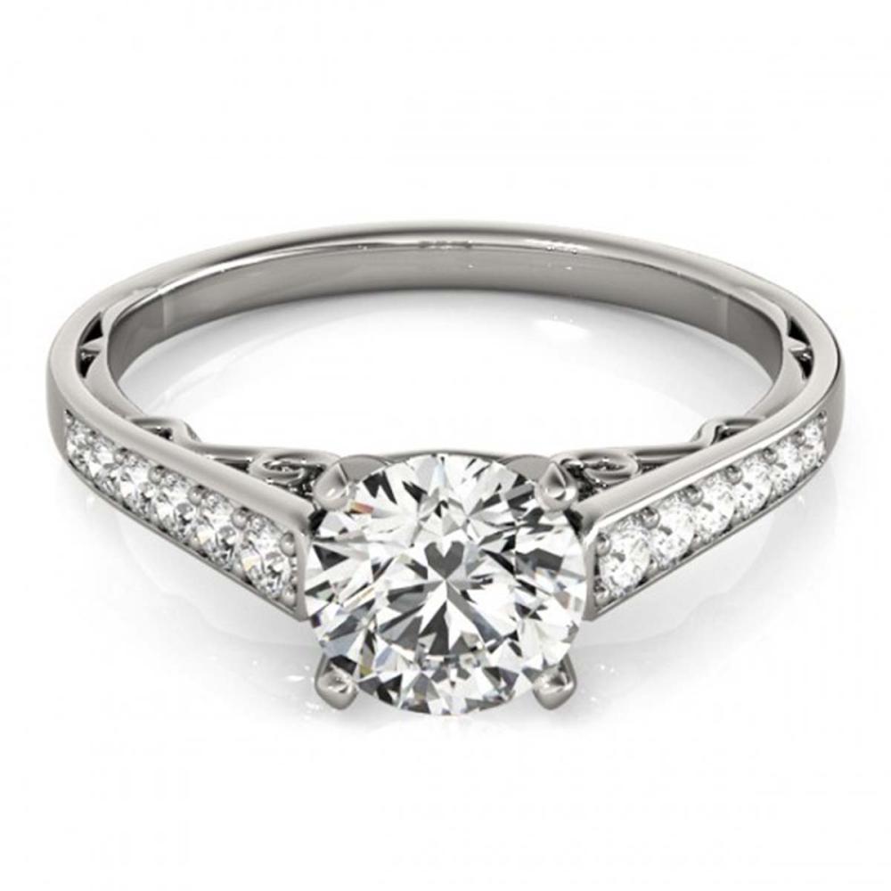 1.10 ctw VS/SI Diamond Ring 18K White Gold - REF-138W3H - SKU:27513