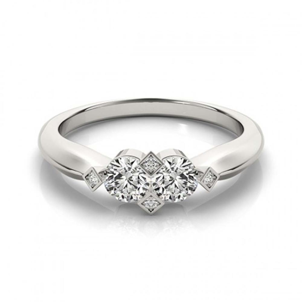 1.10 ctw VS/SI Diamond 2 Stone 2 Stone Ring 18K White Gold - REF-140R6K - SKU:28224