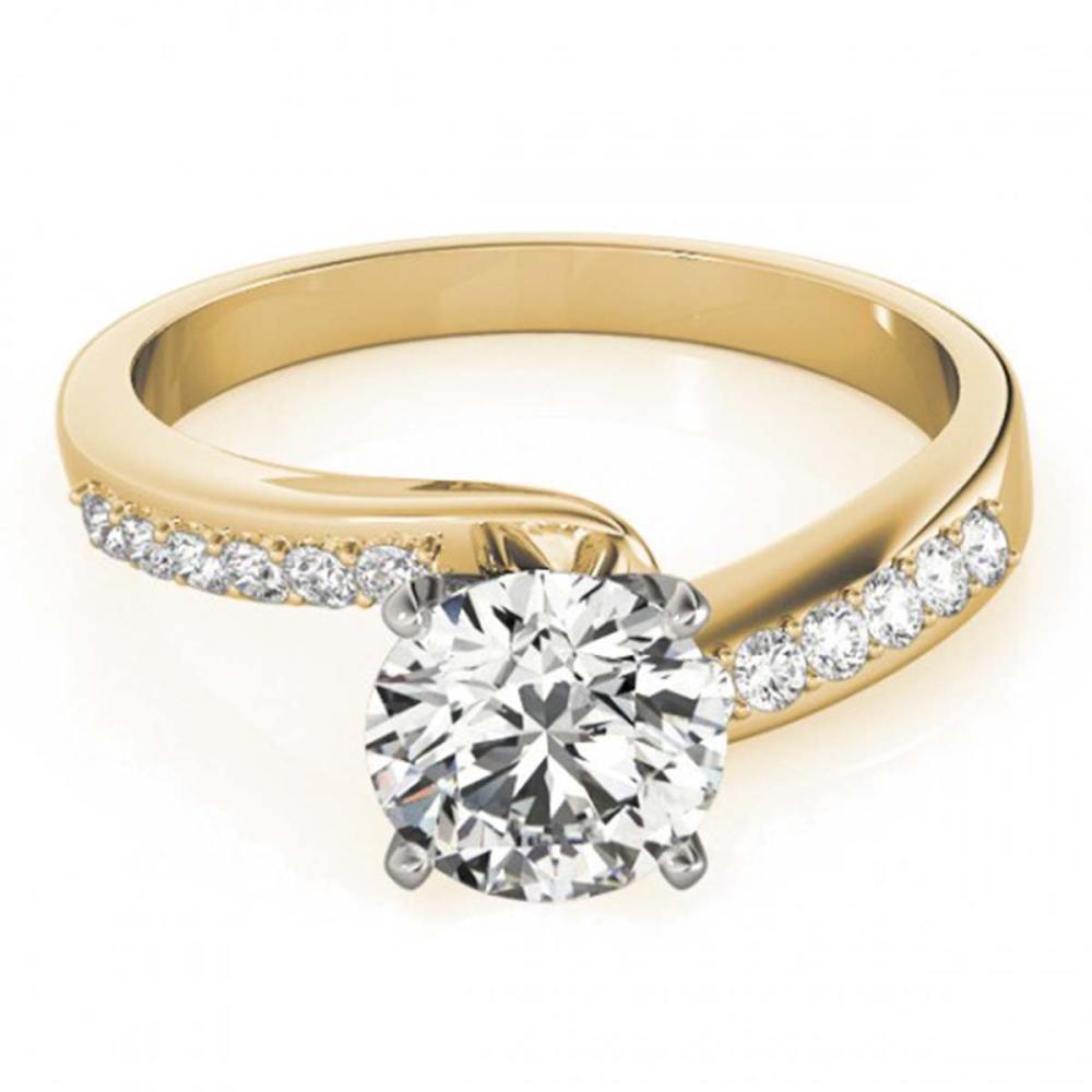 1.40 ctw VS/SI Diamond Bypass Ring 18K Yellow Gold - REF-394X3R - SKU:27683