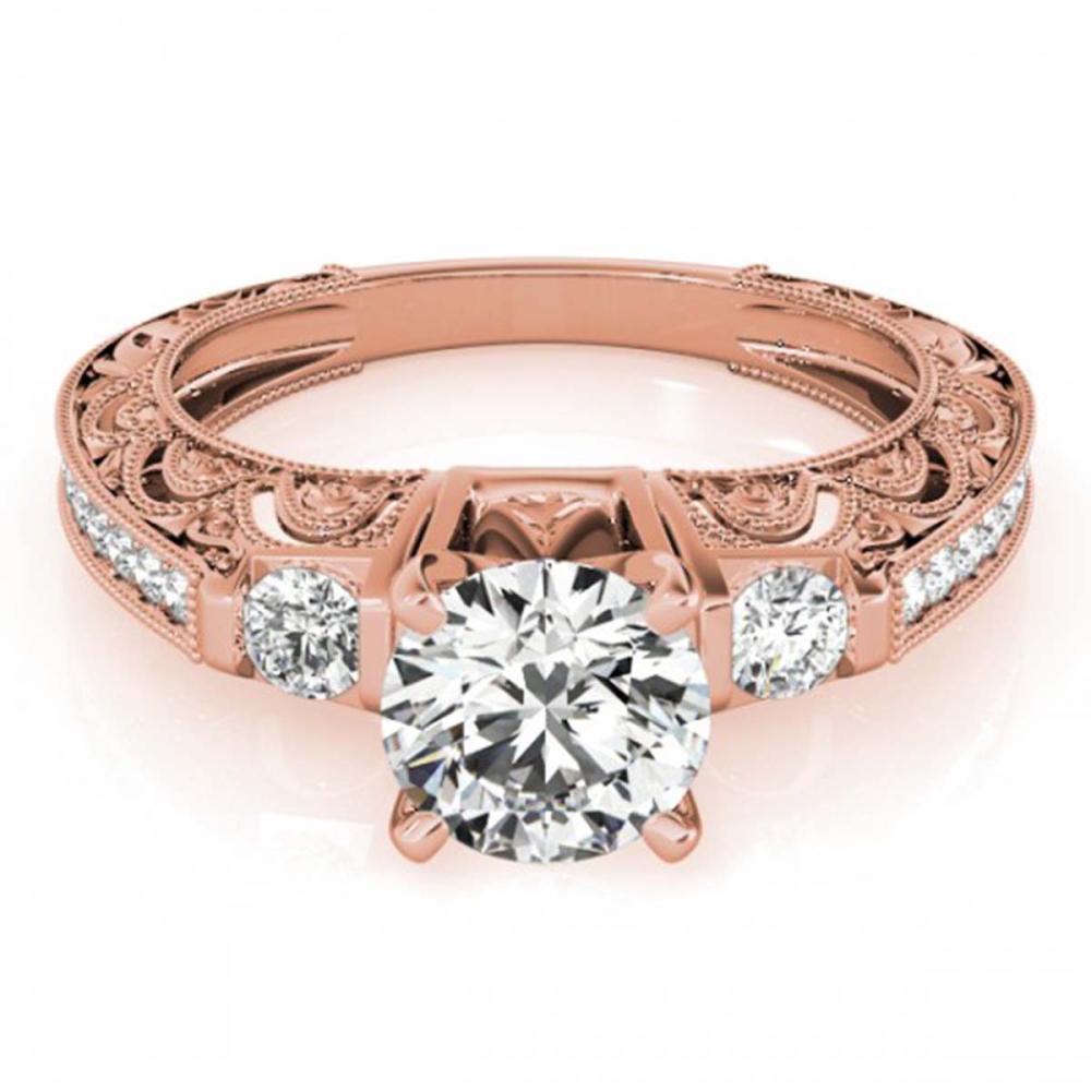 0.91 ctw VS/SI Diamond Ring 18K Rose Gold - REF-100A9V - SKU:27277
