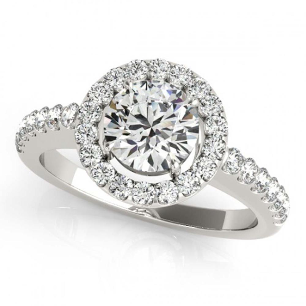 0.76 ctw VS/SI Diamond Halo Ring 18K White Gold - REF-96H5M - SKU:26326