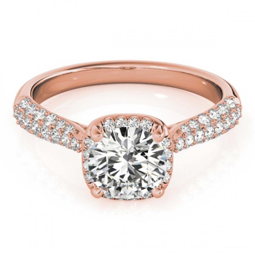 1.50 ctw VS/SI Diamond Halo Ring 18K Rose Gold - REF-292N3A - SKU:26168