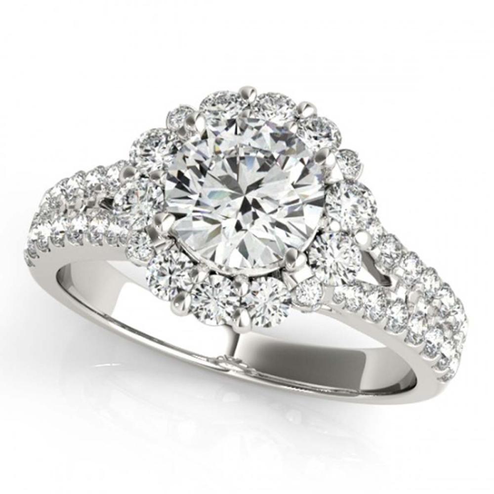 2.01 ctw VS/SI Diamond Halo Ring 18K White Gold - REF-316X3R - SKU:26700