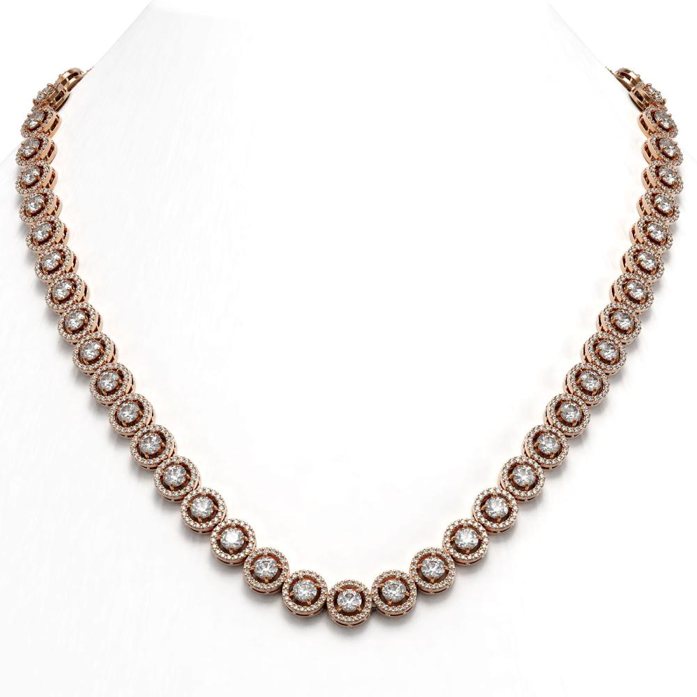 23.95 ctw Diamond Necklace 18K Rose Gold - REF-1813V5Y - SKU:42993