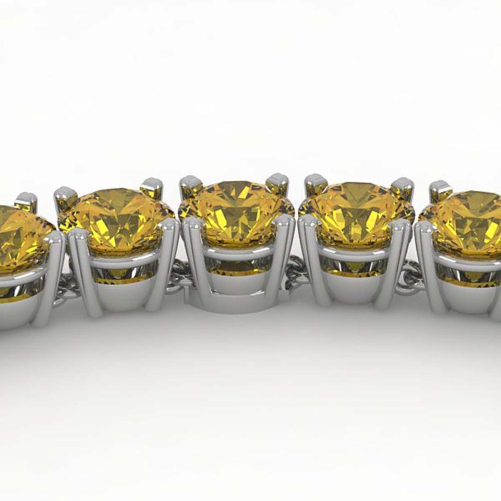 30 ctw Fancy Yellow SI Diamond Necklace 14K Rose Gold - REF-4800K2W - SKU:38511