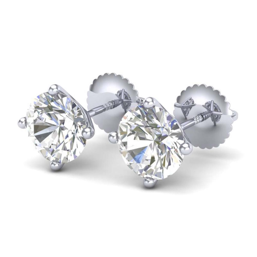 2.5 ctw VS/SI Diamond Bridal Solitaire Stud Earrings 18K White Gold - REF-668Y2X - SKU:37307