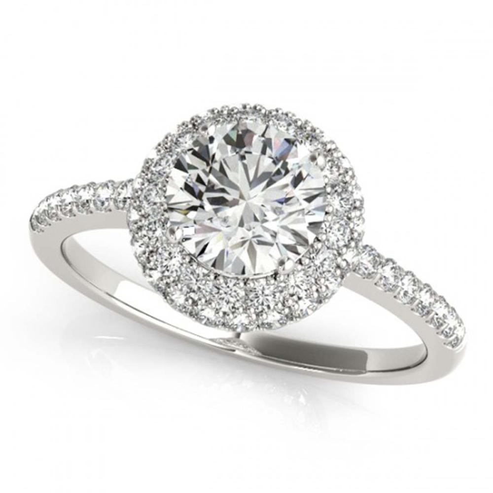 1.60 ctw VS/SI Diamond Halo Ring 18K White Gold - REF-291N8A - SKU:26485
