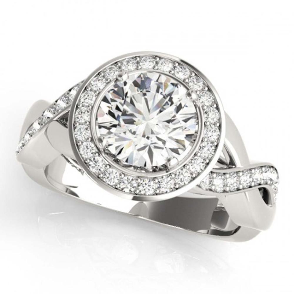 2 ctw VS/SI Diamond Halo Ring 18K White Gold - REF-405K8W - SKU:26176
