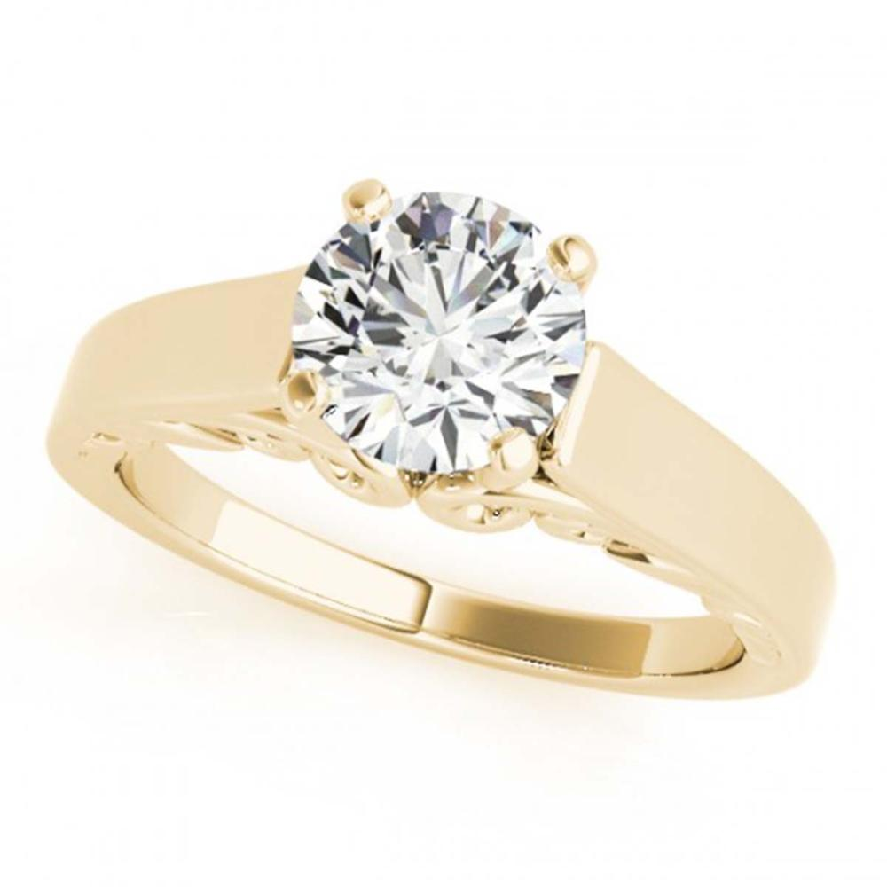 0.75 ctw VS/SI Diamond Ring 18K Yellow Gold - REF-142H4M - SKU:27782