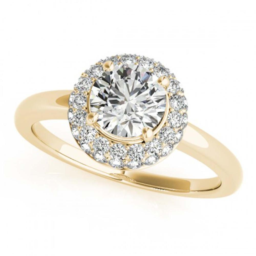 1 ctw VS/SI Diamond Halo Ring 18K Yellow Gold - REF-139Y2X - SKU:26478