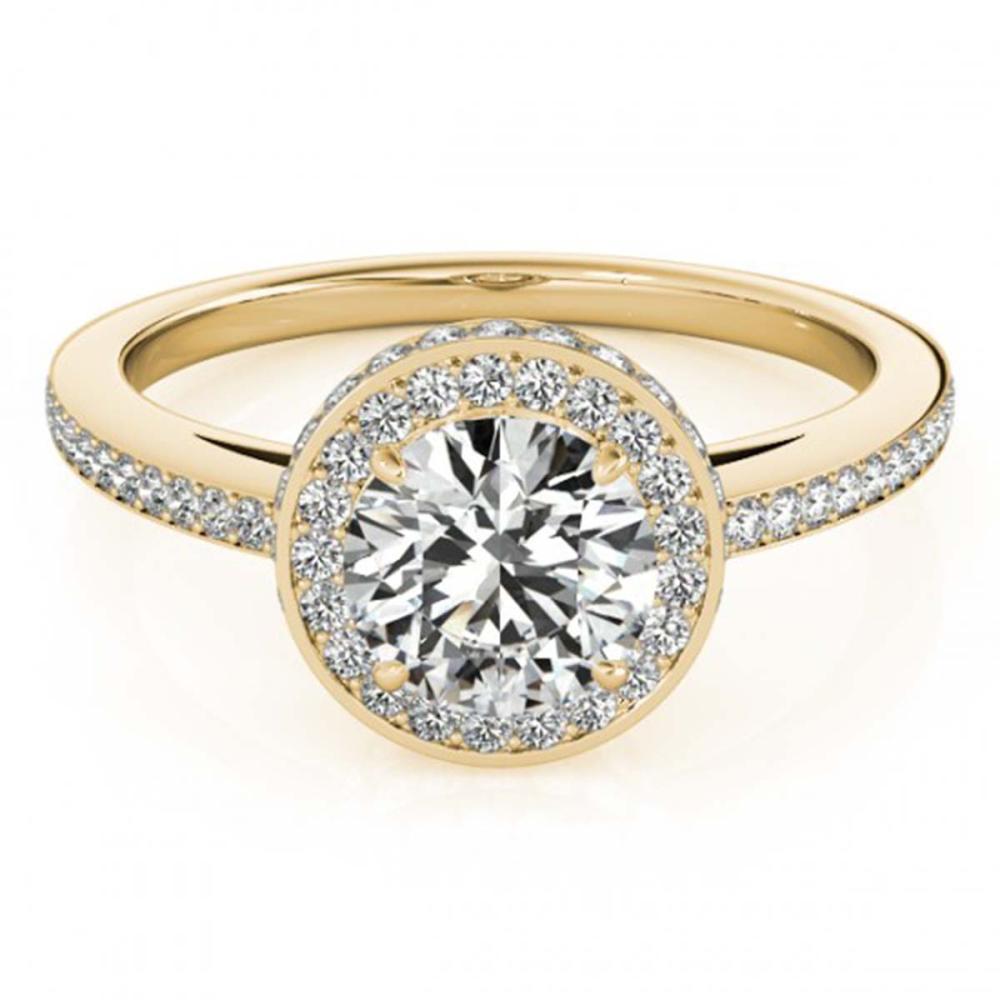 1.55 ctw VS/SI Diamond Halo Ring 18K Yellow Gold - REF-306W2H - SKU:26924