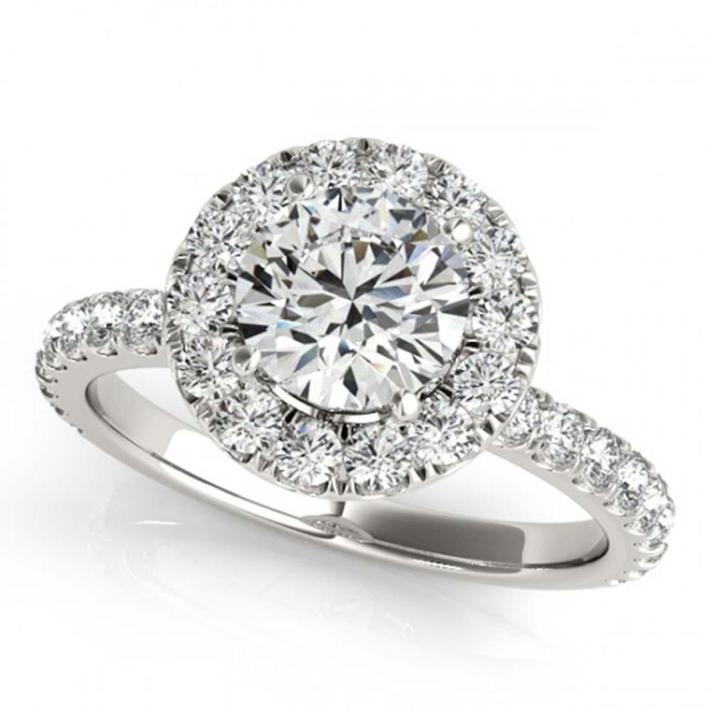 1.50 ctw VS/SI Diamond Halo Ring 18K White Gold - REF-172K6W - SKU:26296