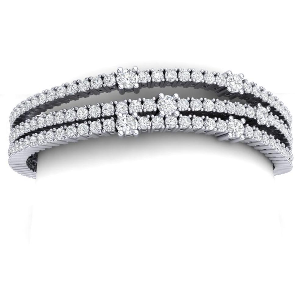 15 ctw VS/SI Diamond Bracelet 18K White Gold - REF-1110H2M - SKU:39977