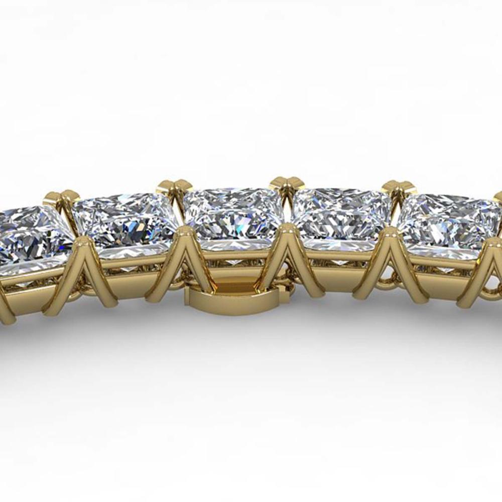 50 ctw Princess SI Diamond Necklace 14K Yellow Gold - REF-7980F2N - SKU:32185