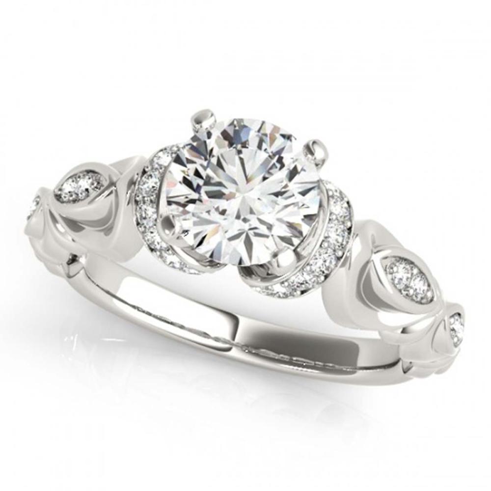 0.75 ctw VS/SI Diamond Ring 18K White Gold - REF-120F2N - SKU:27303