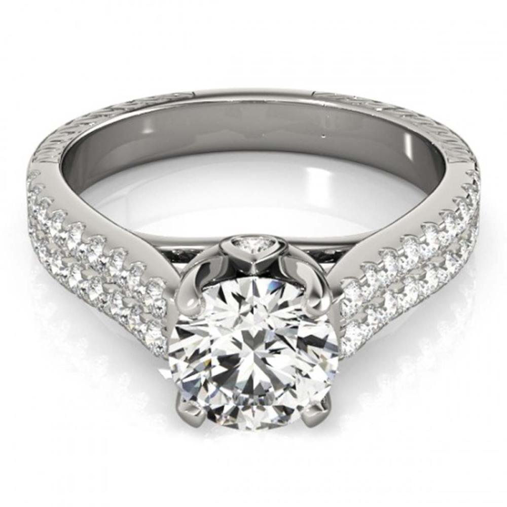 1.61 ctw VS/SI Diamond Ring 18K White Gold - REF-301Y6X - SKU:28097