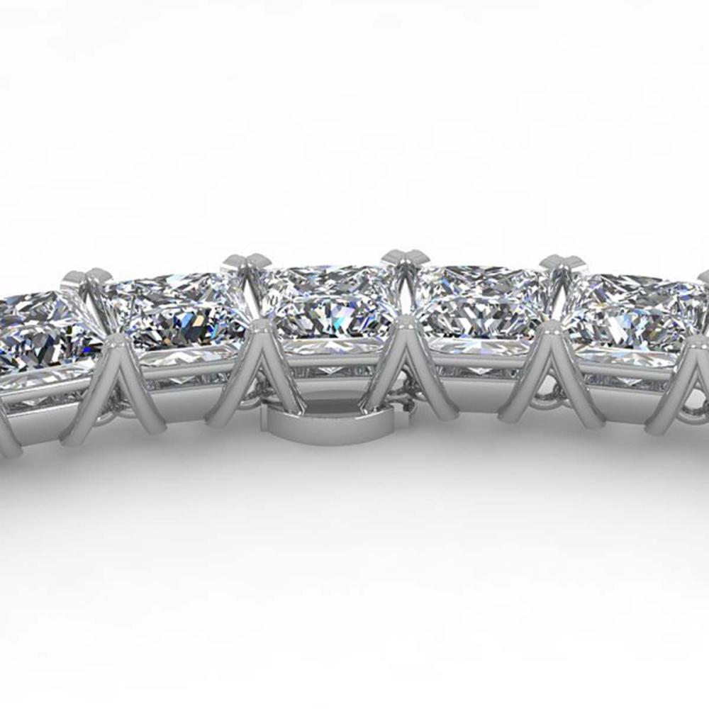 40 ctw Princess SI Diamond Necklace 14K Rose Gold - REF-6480R2K - SKU:32180