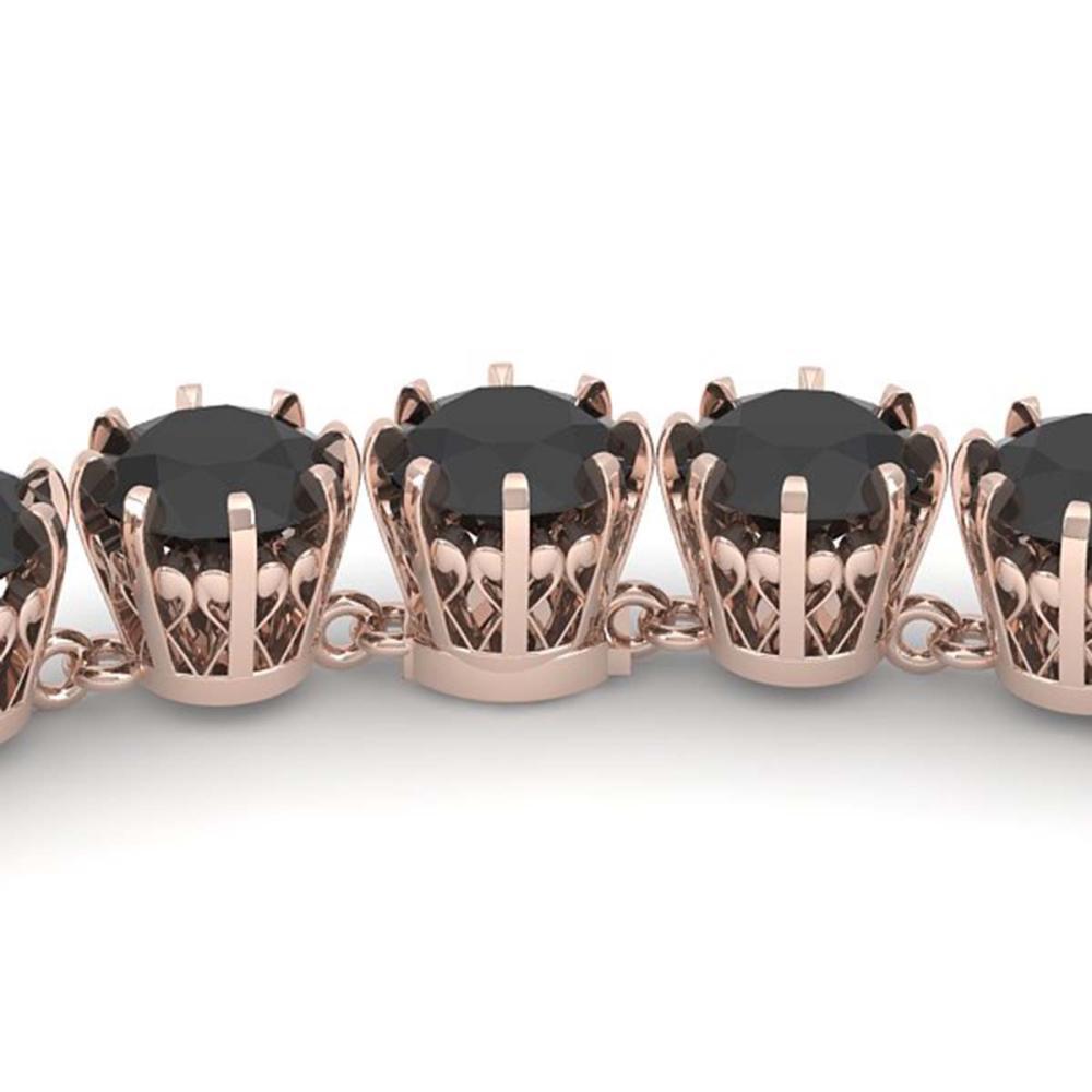 34 ctw Black VS Diamond Necklace 18K Rose Gold - REF-930R2K - SKU:35807