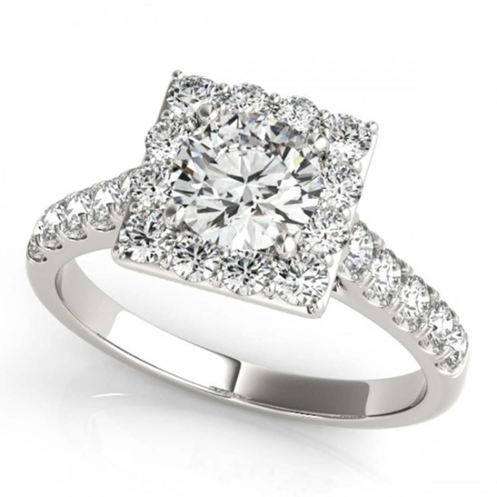 2.5 ctw VS/SI Diamond Halo Ring 18K White Gold - REF-544Y5X - SKU:26835