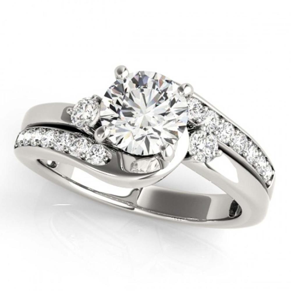 2 ctw VS/SI Diamond Bypass Ring 18K White Gold - REF-516M7F - SKU:27705