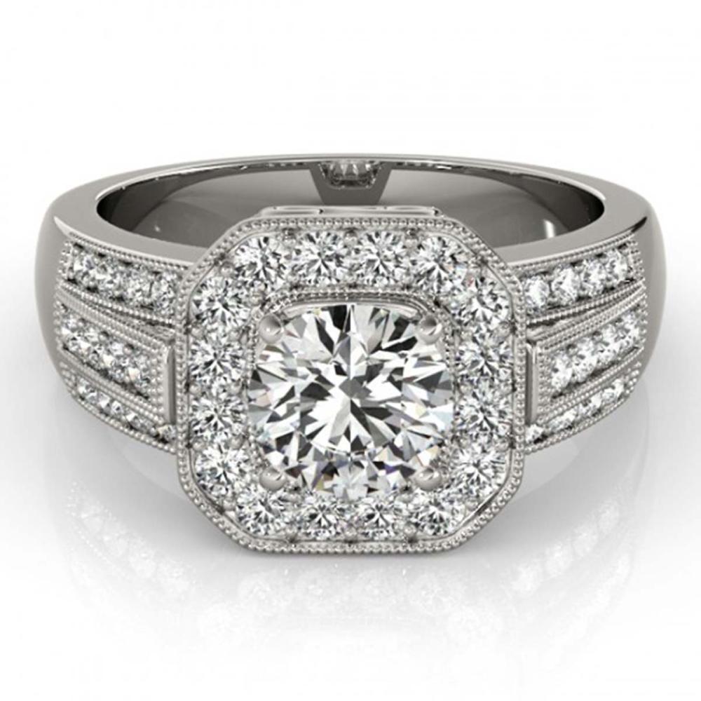 1.50 ctw VS/SI Diamond Halo Ring 18K White Gold - REF-216Y8X - SKU:26892