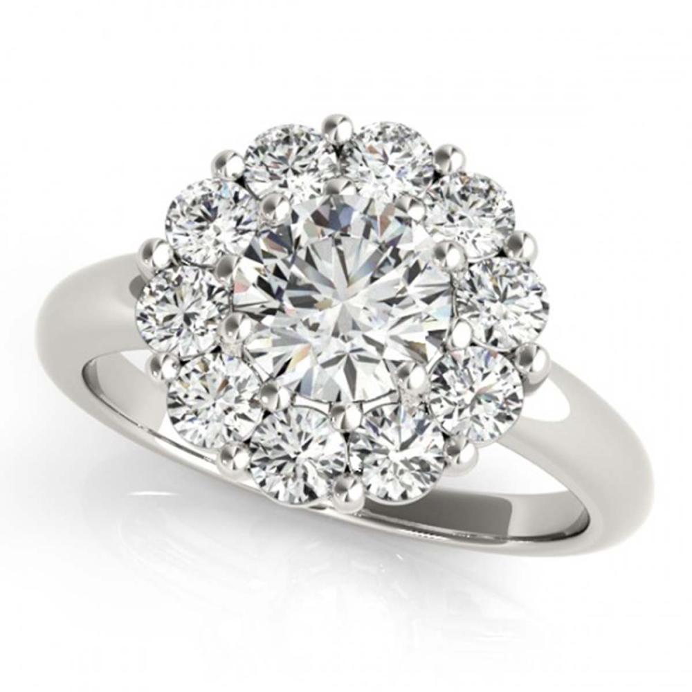 1.38 ctw VS/SI Diamond Halo Ring 18K White Gold - REF-169A6V - SKU:27012