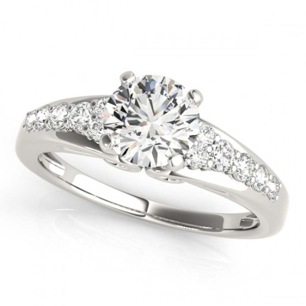 0.90 ctw VS/SI Diamond Ring 18K White Gold - REF-103R6K - SKU:27603