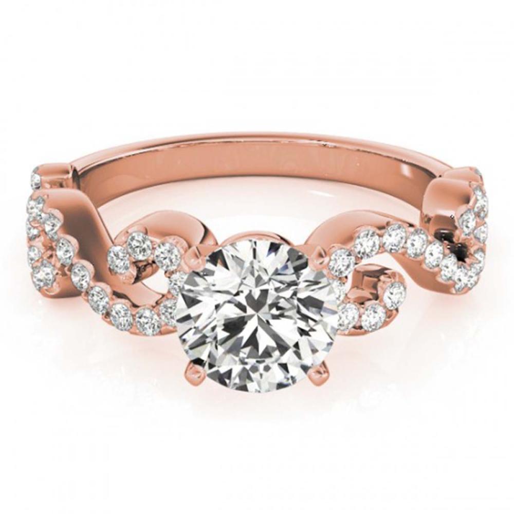 0.90 ctw VS/SI Diamond Ring 18K Rose Gold - REF-100Y9X - SKU:27853