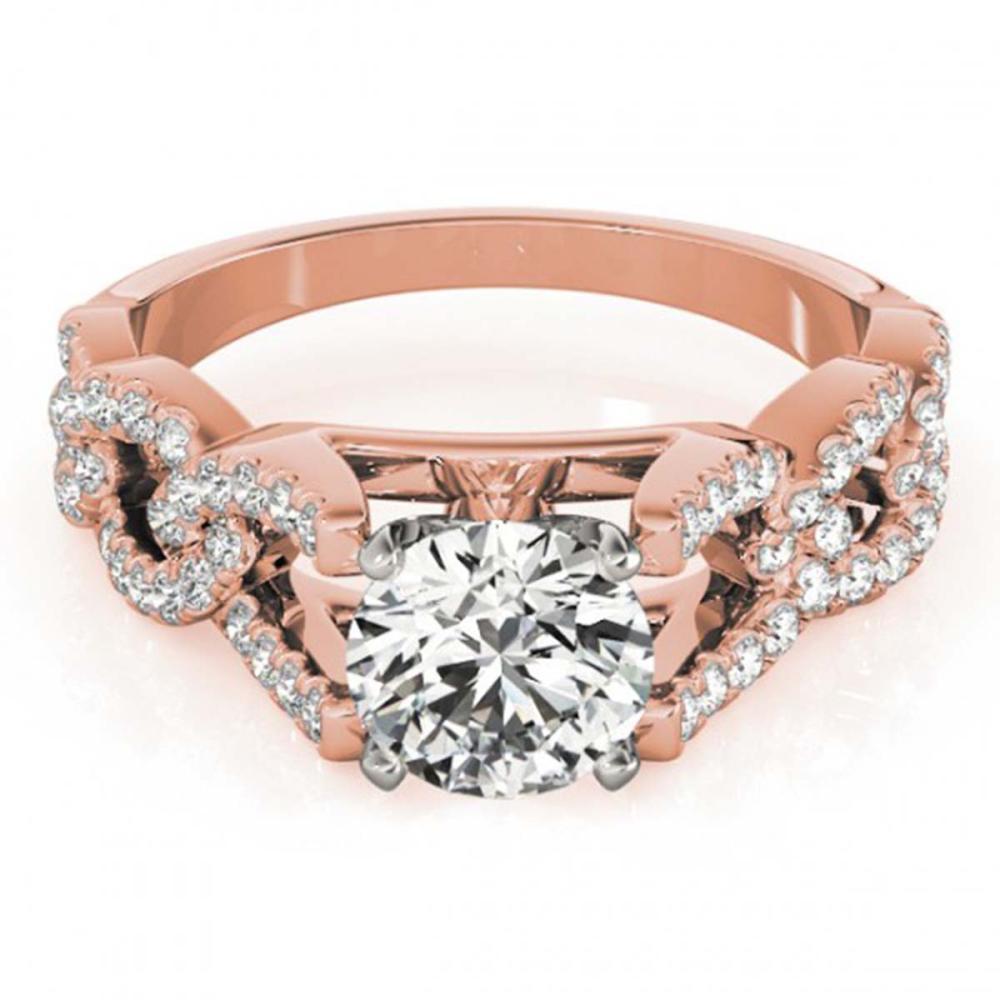 1 ctw VS/SI Diamond Wedding Ring 18K Rose Gold - REF-118X6R - SKU:27832