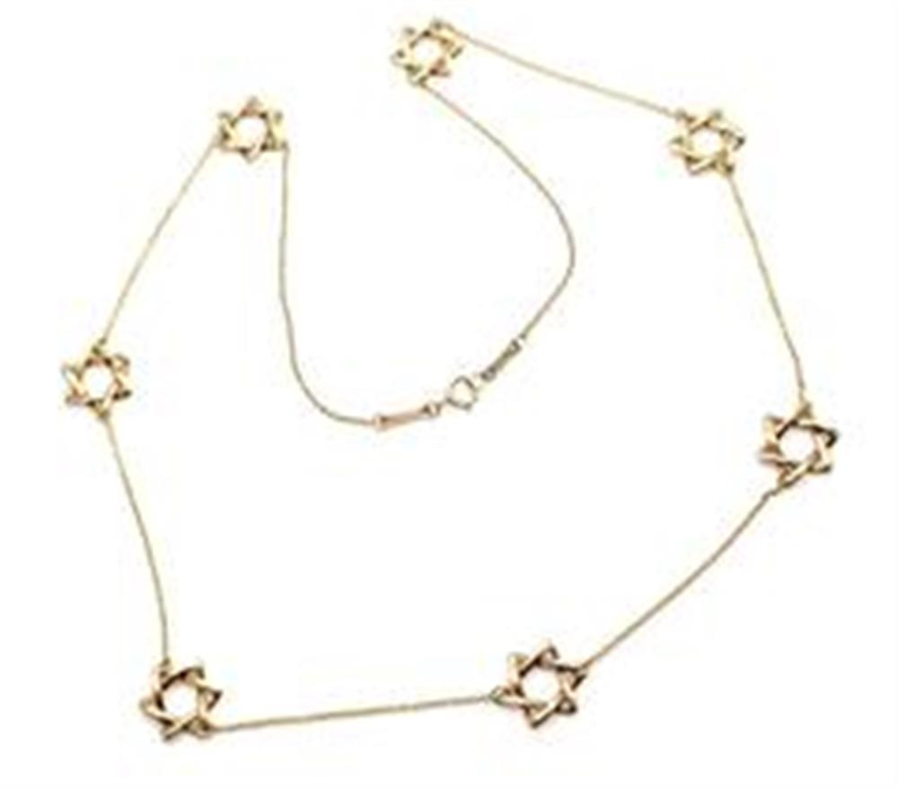8f99c2b4abc Tiffany   Co. Elsa Peretti 18k Yellow Gold Star Of David Necklace