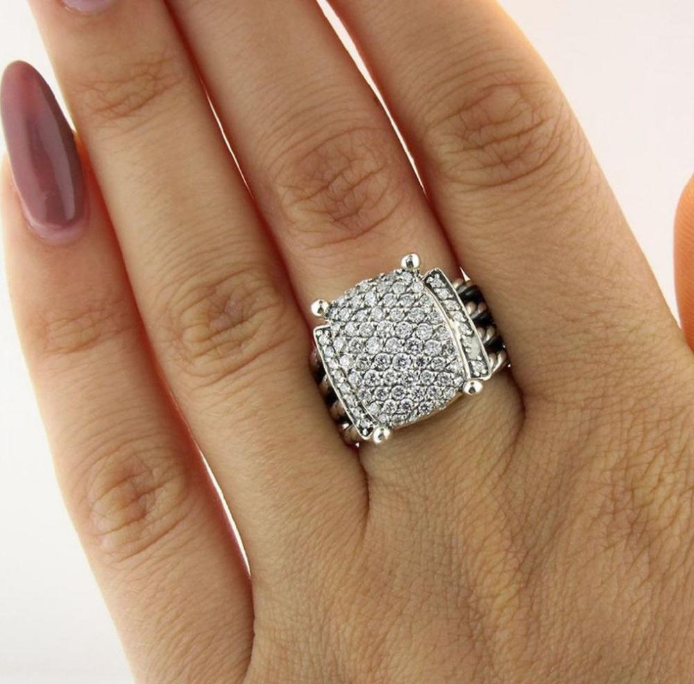 Sold Price David Yurman Wheaton Sterling Silver Diamond Ring December 2 0118 10 00 Am Est