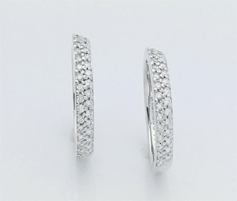 Hidalgo 18k White 6g Gold With Diamonds Stackable Rings