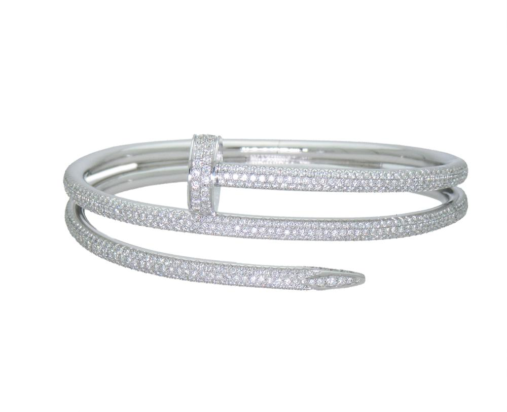 Cartier Juste un Clou DIAMOND-White GOLD BRACELET