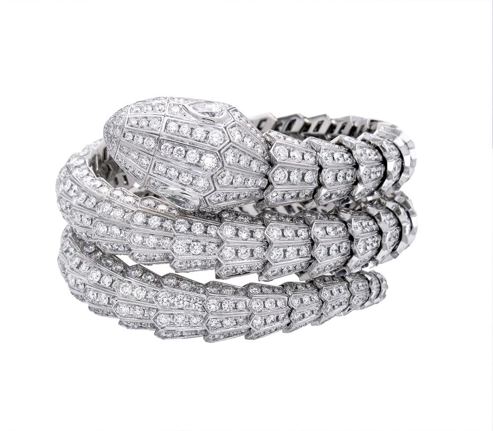 Bulgari Bvlgari 18k White Gold Serpenti Diamond