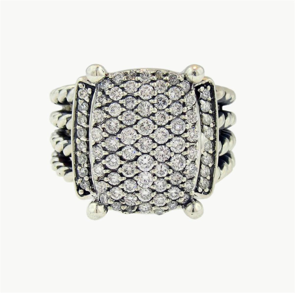 David Yurman Wheaton Sterling Silver & Diamond Ring