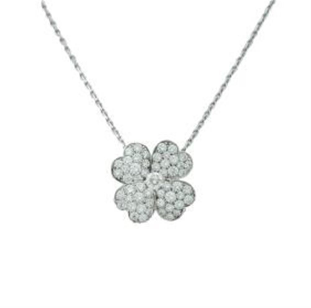 Van Cleef & Arpels White Gold Diamond Cosmos Pendant