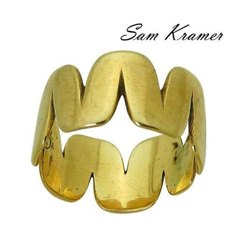 Sam Kramer 14k Yellow Gold Band Ring Size 6.25