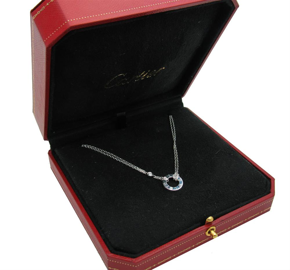 Cartier LOVE NECKLACE, 2 DIAMONDS WHITE GOLD