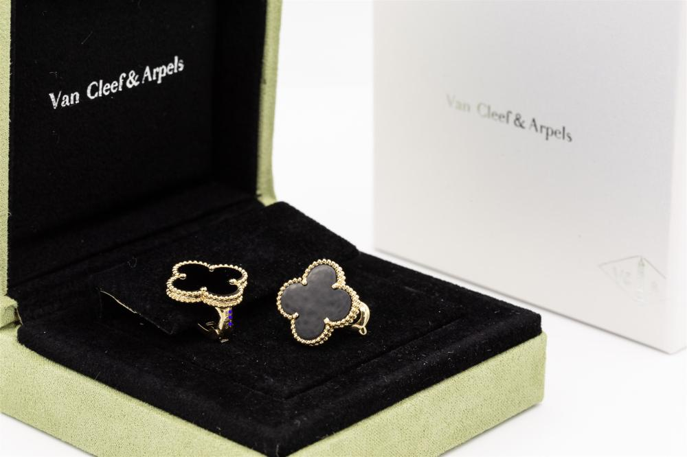 Van Cleef & Arpels Magic Alhambra Black Onyx  Earrings