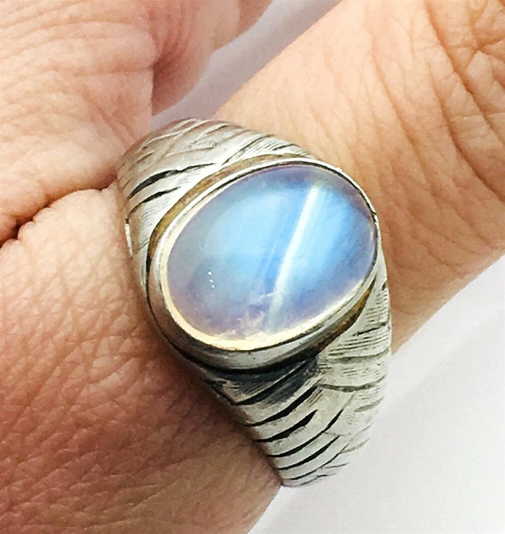 Tiffany & Co Vintage Platinum & Labradorite Ring Size