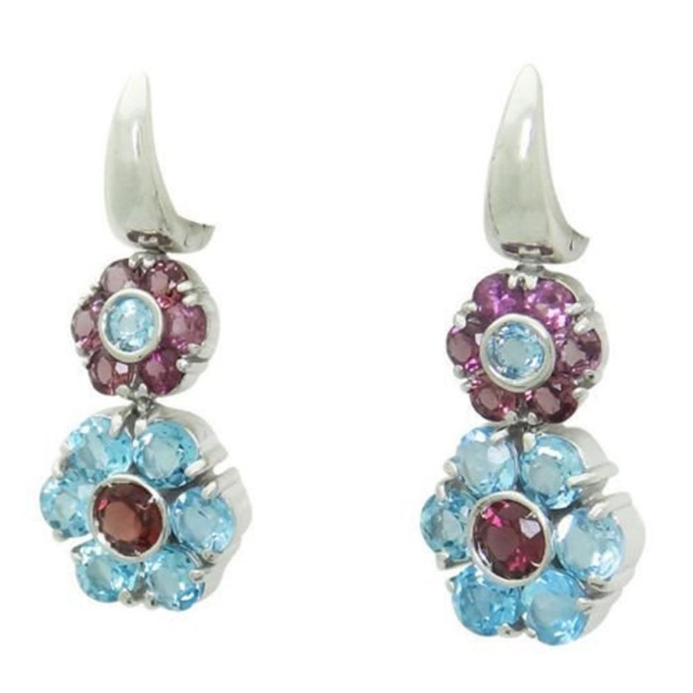 Pasquale Bruni 18k Blue Topaz & Tourmaline Drop Earring