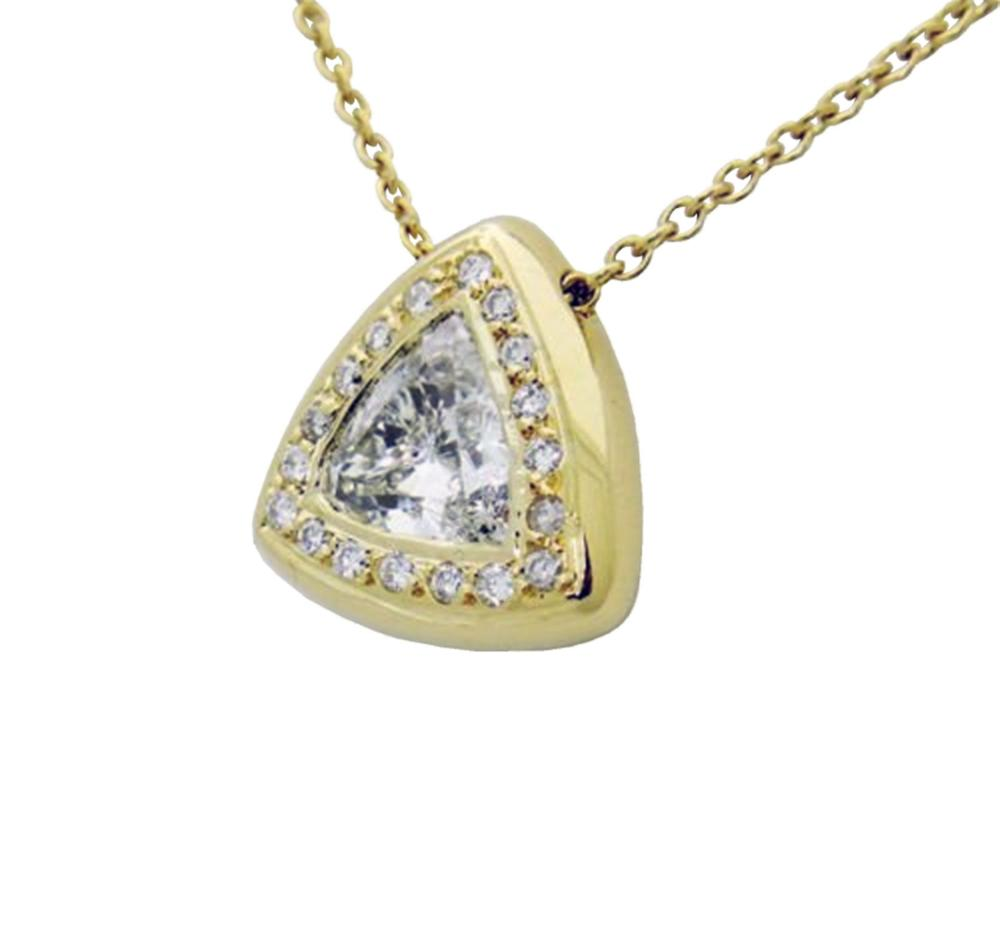 18k:Gold  2.00TCW Diamond Pendant