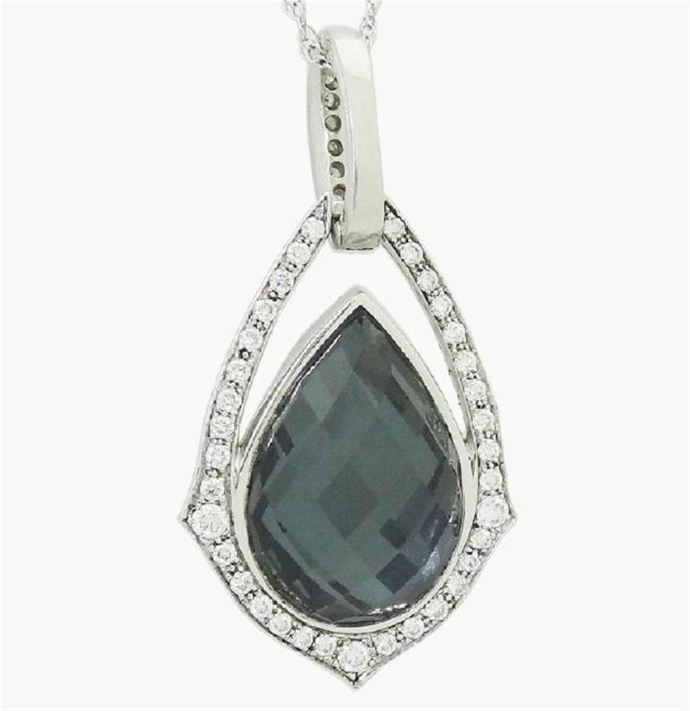 Stephen Webster 18k Diamond Grey Cats Eye Pendant