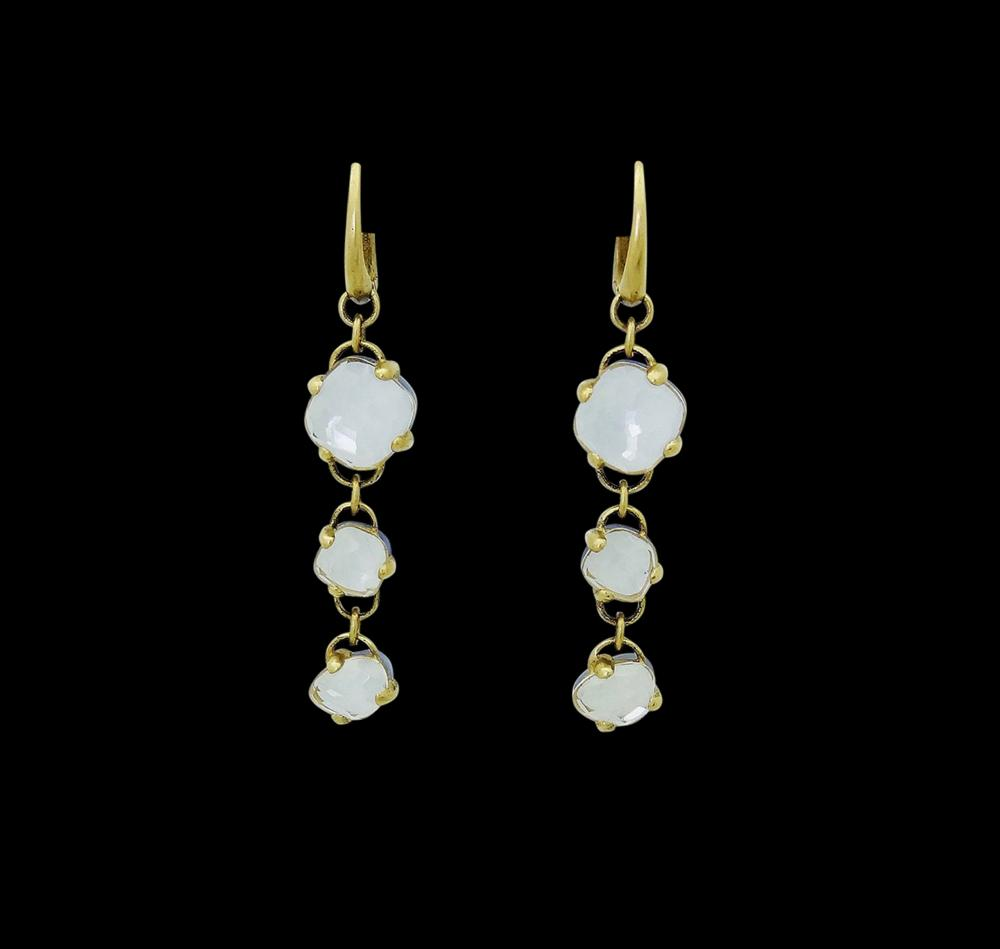 Pomellato Capri 18k Gold & Quartz Chalcedony Earrings