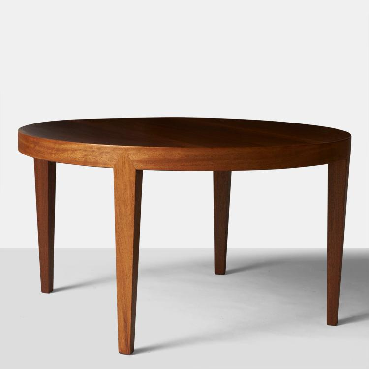 A Round Mahogany Coffee Table #70 By Severin Hansen Jr For Haslev