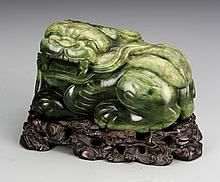 Chinese Spinach Jade Foo Lion
