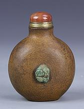 Chinese Carved Wood Snuff Bottle