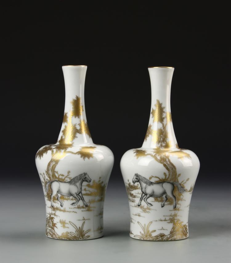pair of chinese famille noir vases. Black Bedroom Furniture Sets. Home Design Ideas