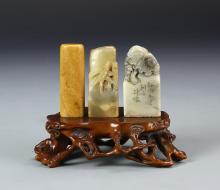 Three Chinese Seal Chops